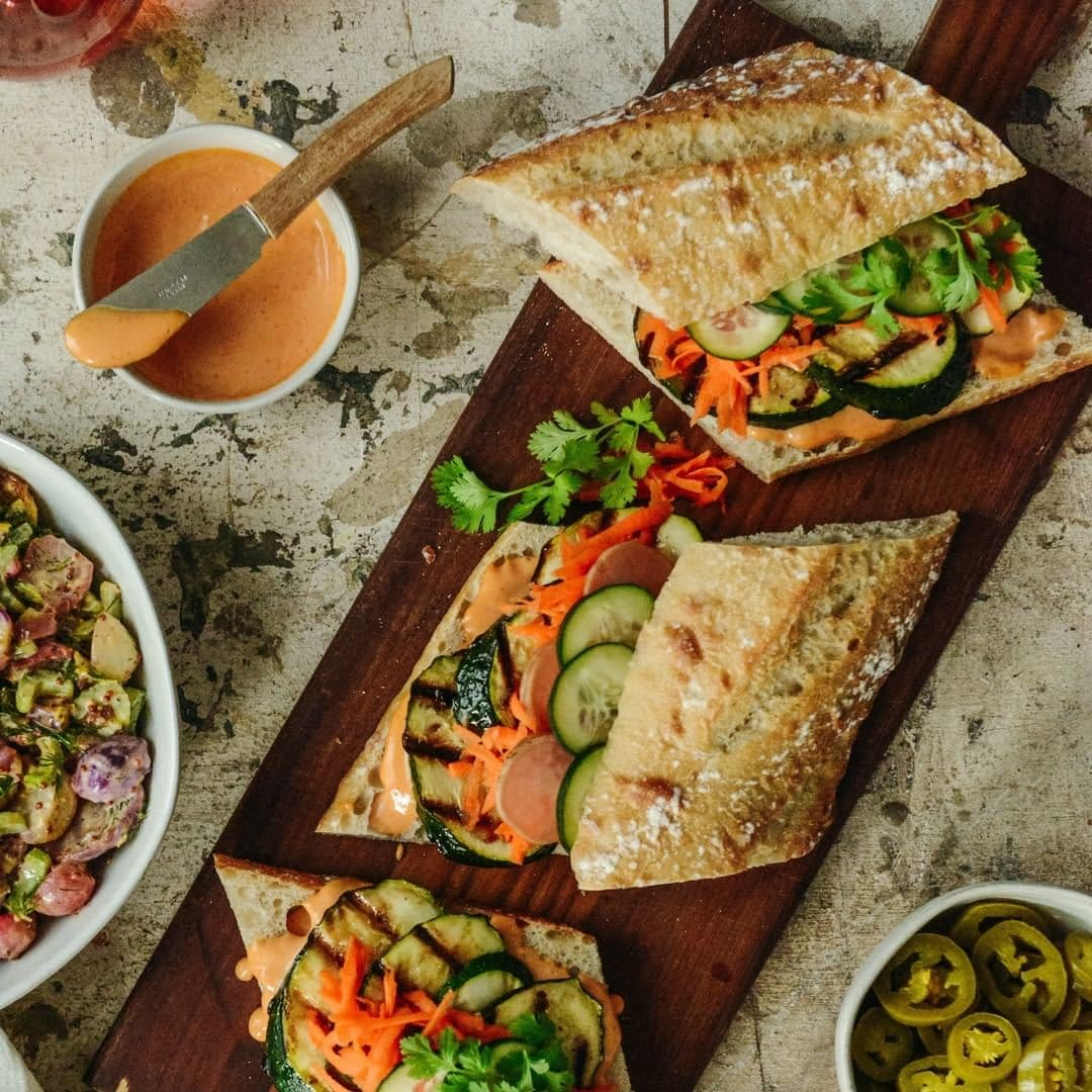 A healthy zucchini sandwich perfect for Sunday afternoon lunch This